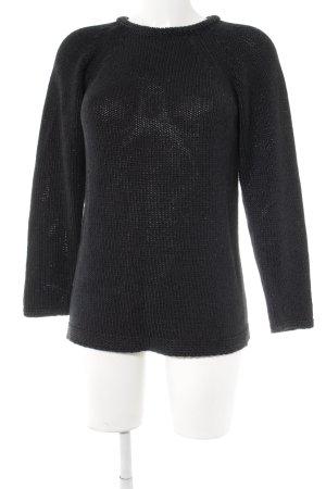 Conleys Grof gebreide trui zwart casual uitstraling