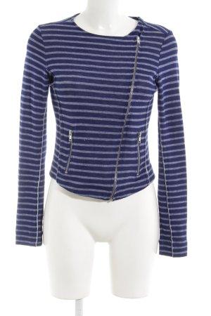 Conleys Jerseyblazer blauviolett-blasslila Ringelmuster Casual-Look