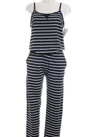 Conleys Jumpsuit weiß-dunkelblau Streifenmuster Casual-Look