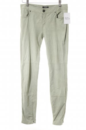 Conleys Leather Trousers pale green casual look