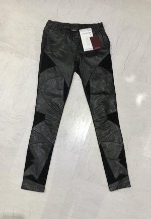 Conleys Pantalone in pelle nero