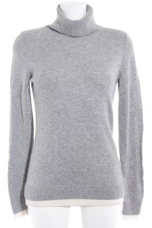 Conleys Maglione dolcevita grigio chiaro-bianco sporco stile casual