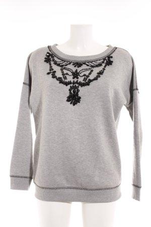 Conleys Kraagloze sweater lichtgrijs casual uitstraling