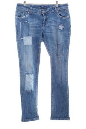 Conleys Slim Jeans kornblumenblau Sternenmuster Boyfriend-Look