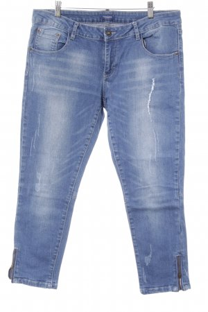 Conleys Slim Jeans stahlblau Casual-Look