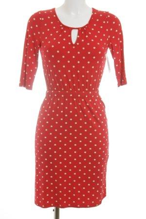Conleys Stretchkleid rot-hellgelb Punktemuster Street-Fashion-Look