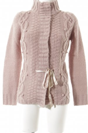 Conleys Strickjacke altrosa Zopfmuster Street-Fashion-Look