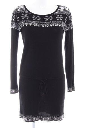 Conleys Strickkleid schwarz-weiß abstraktes Muster Casual-Look