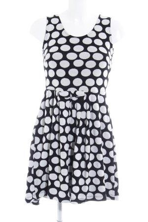 Conleys Strickkleid schwarz-weiß Punktemuster Casual-Look