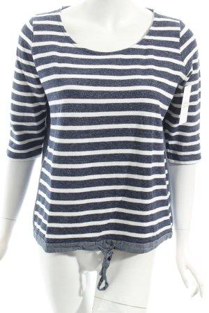 Conleys Sweatshirt dunkelblau-weiß Streifenmuster Casual-Look