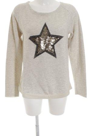 Conleys Sweatshirt wollweiß-goldfarben Sternenmuster Casual-Look