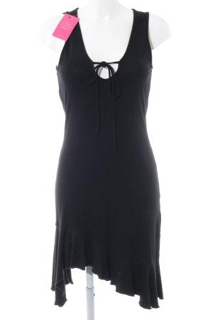 Conleys Vestido estilo flounce negro elegante