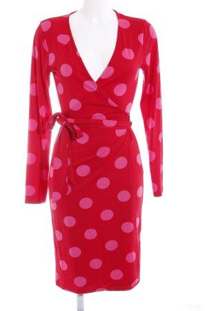 Conleys Vestido cruzado rosa-rojo estampado a lunares Estilo playero