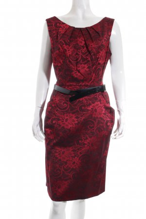 Connected Apparel Sheath Dress black-red floral pattern casual look