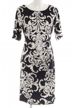 Connected Apparel Shortsleeve Dress black-white allover print business style