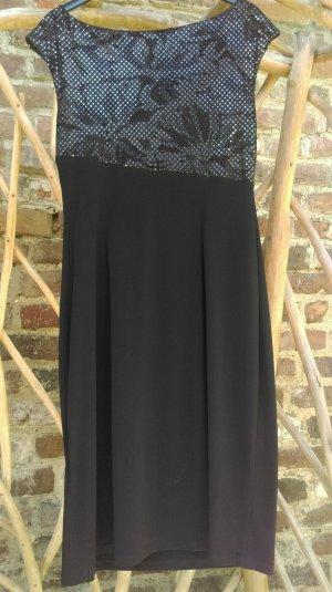 Connected Apparel Evening Dress black mixture fibre