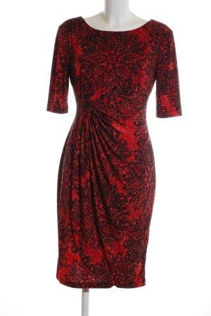 Connected Apparel Vestido elástico rojo-negro estilo «business»