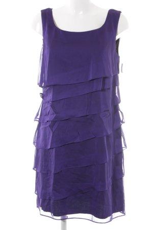 Connected Apparel Volante jurk lila elegant