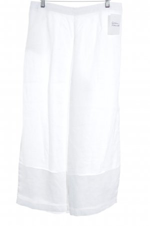 Consequent Pantalón de lino blanco puro estilo sencillo