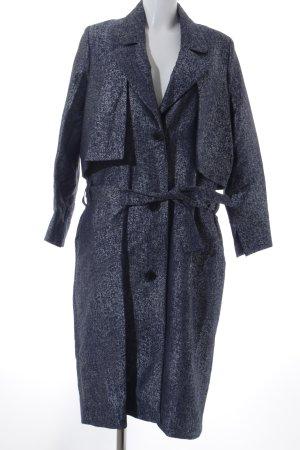 Constance Boutet Paris Trenchcoat graublau-dunkelblau meliert Elegant