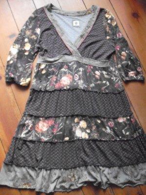 Container Kleid schwarz - geblümt- Größe 42