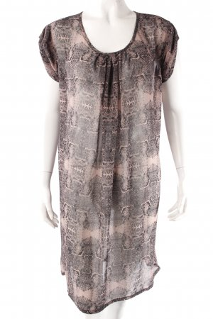 Container tunic dress patterned