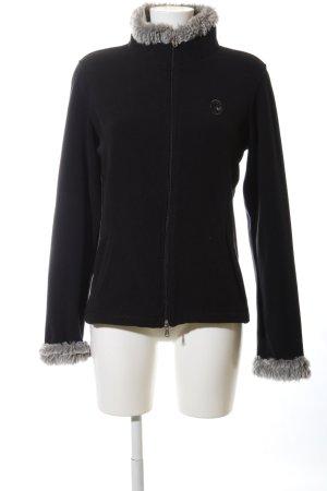 Conte of Florence Fleece Jackets black casual look