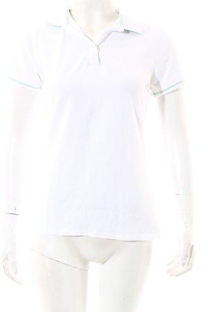 Conte of Florence Polo-Shirt weiß-mint sportlicher Stil