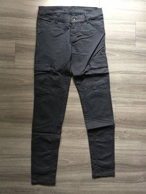 Low-Rise Trousers dark blue