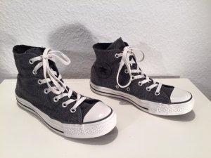 Converse Sneaker alta grigio scuro-bianco