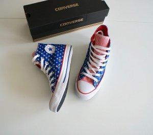Converse All Star Chucks Hi Sterne Rot Blau American Flag