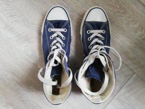 Converse Zapatillas altas azul acero-blanco