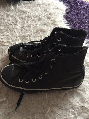 Converse All Star Chucks in schwarz gefüttert