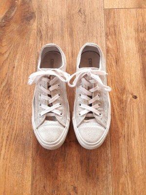 Converse Basket à lacet blanc-argenté