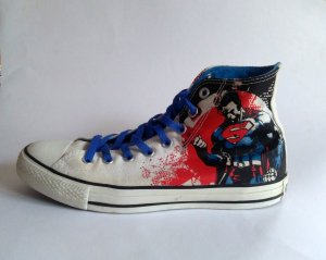 Converse All Star Chucks Superman DC Gr. 40 weiß rot Limited Edition