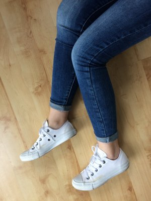 Converse All Star Chucks weiß low white monochrome Größe 36.5