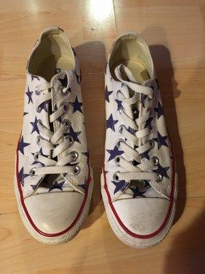 Converse All Star Chucks weiß mit blauen Sternen Größe 38,5