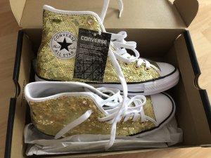 Converse All Star Gold mit Pailletten Gr 40 Neu