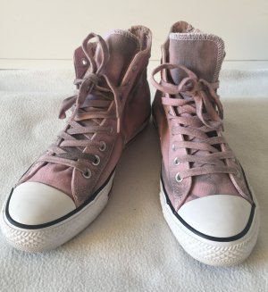 CONVERSE ALL STAR High Sneaker Rosa Grau Used Look Gr.40