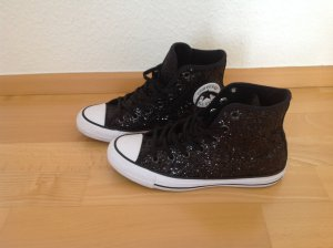 Converse All Star High Top Chucks Glitzer Schwarz Größe 37