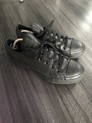 Converse all Star Leder schwarz Gr 38