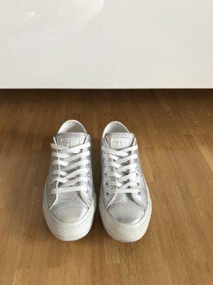 Converse All Star Snake print Sneaker Chucks Silber