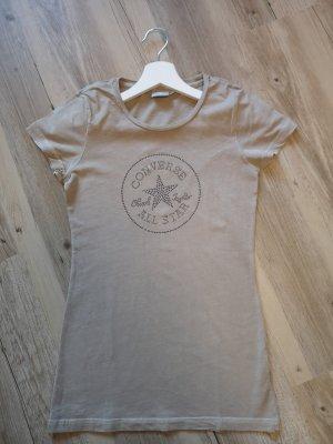 Converse T-shirt beige-camel