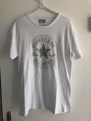 Converse T-shirt wit-zilver