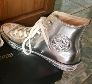 Converse All Star Top Silber Leder