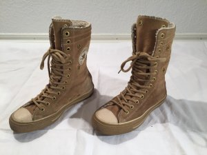 Converse Sneaker alta marrone chiaro-crema Scamosciato