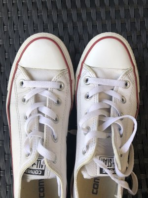 Converse All Stars Leder Chucks weiß