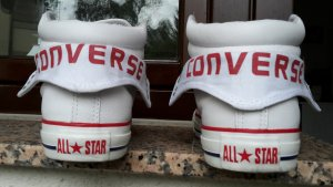 Converse all stars weiß Leder Gr. 39