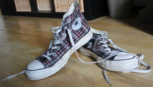Converse Allstar Chucks, mid high, stylisches Karomuster,