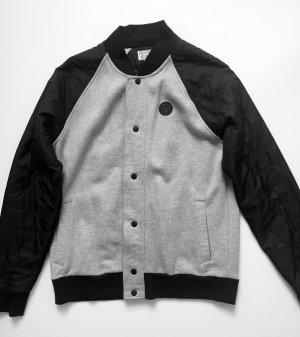 Converse Baseball Jacke - schwarz/grau in M